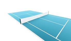 Campo de tênis rendido no fundo branco ilustração stock