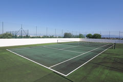 Campo de tênis sem povos. fotografia de stock royalty free