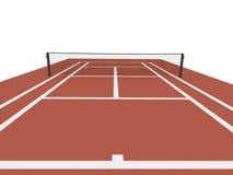 Campo de tênis vermelho rendido ilustração do vetor