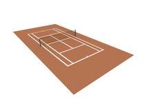 Campo de tênis vermelho rendido isolado ilustração do vetor