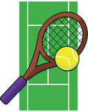 Campo de tenis ilustración del vector