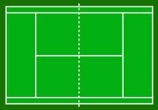 Campo de tenis Campo aislado en el fondo blanco, vector común i libre illustration