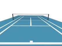 Campo de tenis azul Fotos de archivo