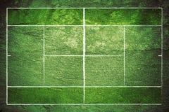 Campo de tenis de Grunge Imagen de archivo