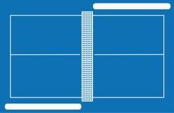 Campo de tenis del vector con los marcos Foto de archivo