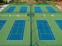 Campo de tenis de la visión superior foto de archivo libre de regalías