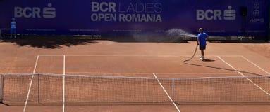 Campo de tenis restaurado foto de archivo