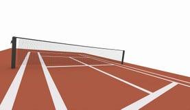 Campo de tenis rojo rendido en blanco libre illustration