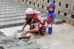 Campo de tijolo em Bengal-India ocidental Fotografia de Stock Royalty Free