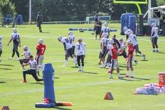 Campo de treinos 2016 dos New England Patriots fotografia de stock