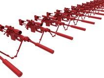 Campo de treinos dos rifles de atirador furtivo Fotografia de Stock