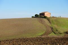 Campo de Tuscan, paisagem italiana Imagens de Stock