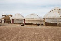 Campo de Yurt, Uzbekistán Imagen de archivo libre de regalías