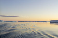 Campo degli iceberg tabulari, Antartide Fotografie Stock Libere da Diritti