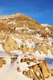 Campo dei calanchi di inverno Fotografia Stock