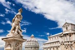 Campo dei Miracoli w Pisa lecie Obrazy Stock