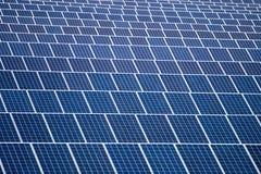 Campo dei pannelli solari Immagine Stock