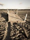 Campo del arado para la agricultura Fotografía de archivo