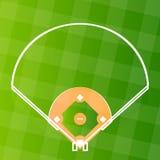 Campo del asiduo del béisbol del vector Fotografía de archivo libre de regalías