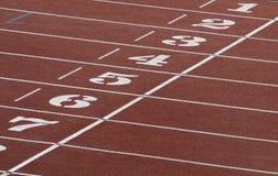 Campo del atletismo imagenes de archivo