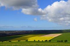 Campo del balanceo en los plumones del sur de Sussex Fotografía de archivo libre de regalías