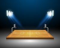 Campo del baloncesto Fotos de archivo libres de regalías