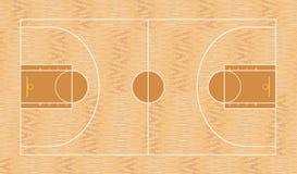 Campo del baloncesto, visión superior libre illustration
