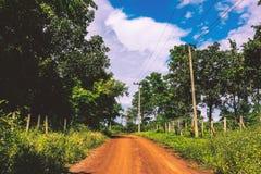 Campo del camino del polvo al aire libre Fotografía de archivo