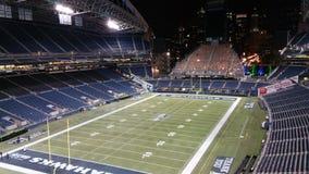 Campo del centrelink del campo de fútbol de los Seattle Seahawks Imagen de archivo libre de regalías