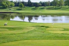 Campo del club de golf Imagen de archivo libre de regalías