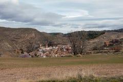 Campo del desierto en la provincia de Zaragoza Foto de archivo