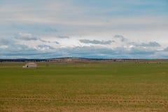 Campo del desierto en la provincia de Zaragoza Imagenes de archivo
