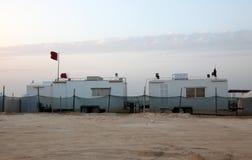 Campo del desierto en Qatar, Oriente Medio Fotografía de archivo libre de regalías