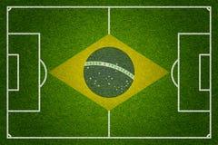 Campo del fútbol o de fútbol del Brasil Foto de archivo libre de regalías