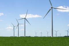 Campo del generador de viento Foto de archivo libre de regalías