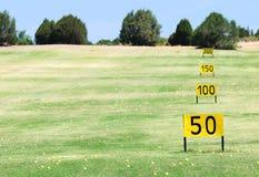 Campo del golf fotos de archivo libres de regalías