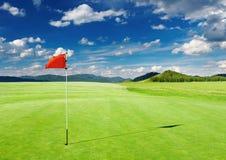 Campo del golf Imágenes de archivo libres de regalías