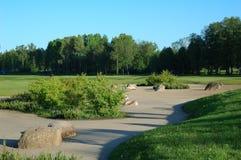 Campo del golf Foto de archivo libre de regalías