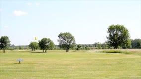 Campo del golf almacen de video