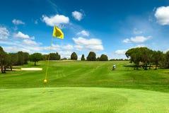 Campo del golf Imagen de archivo libre de regalías