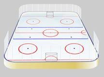 Campo del hockey sobre hielo Imágenes de archivo libres de regalías