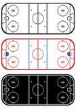 Campo del hockey su ghiaccio Fotografia Stock