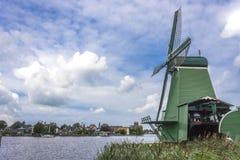 Campo del holandés del molino de viento Imagenes de archivo