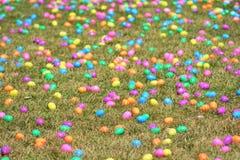Campo del huevo de Pascua fotografía de archivo