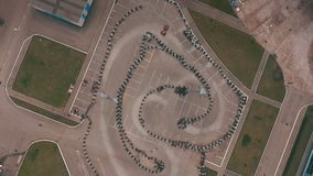 Campo del kart del carretera Visión desde arriba almacen de video