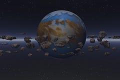 Campo del meteorito Imagen de archivo libre de regalías