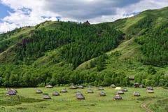 Campo del nómada Fotografía de archivo libre de regalías