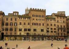 campo del piazza siena Royaltyfria Foton