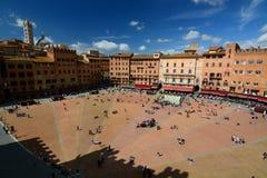 campo del piazza Siena tuscany italy Royaltyfri Fotografi