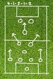 Campo del plan del fútbol Fotos de archivo libres de regalías